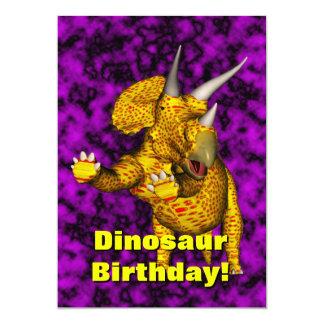 O aniversário do dinossauro convida convite 12.7 x 17.78cm