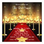 O aniversário do doce 16 de Hollywood do tapete Convites Personalizados