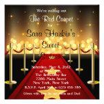 O aniversário do doce 16 de Hollywood do tapete ve Convites Personalizados