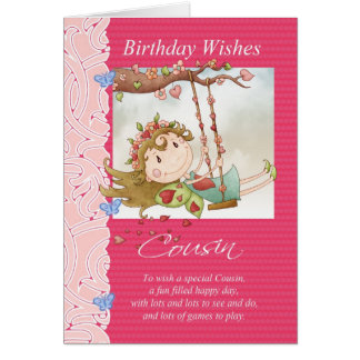 o aniversário do primo deseja o cartão com fada