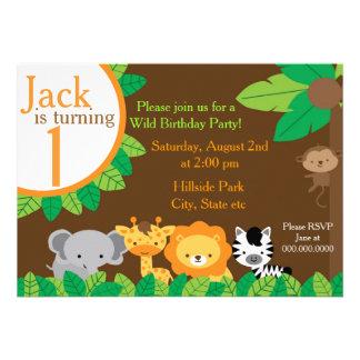 O aniversário do safari convida convites