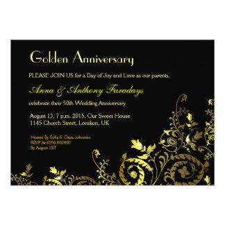 o aniversário dourado dos ornamento 50th do design