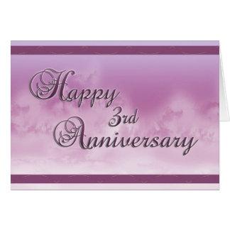 Ó aniversário feliz (aniversário de casamento) cartão comemorativo