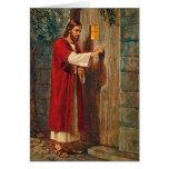 O aniversário Jesus bate na porta Cartões