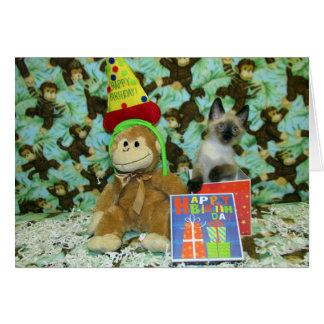 O aniversário Munch deseja o cartão