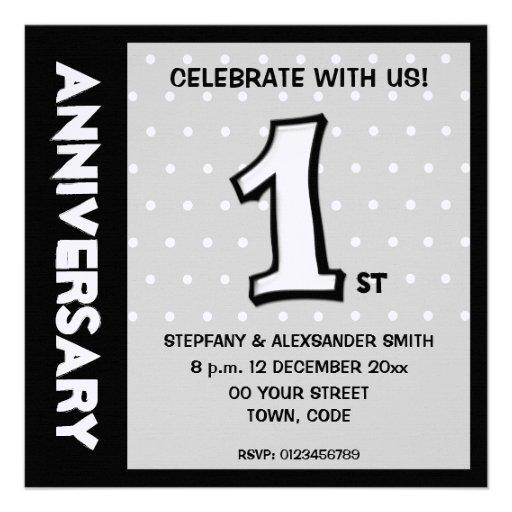 O aniversário parvo dos pontos do branco do número convites personalizados