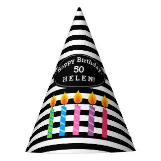 O aniversário personalizado Candles o chapéu de
