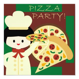O aniversário personalizado do partido da pizza convites
