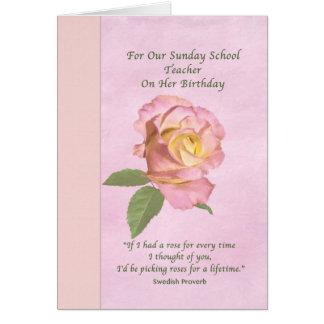 O aniversário, professor de catequese, paz cartão comemorativo