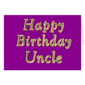 O Aniversário Tio Aniversário do feliz aniversario Cartão Comemorativo