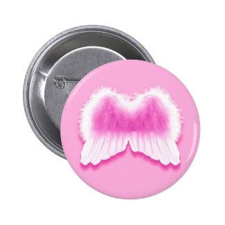 O anjo cor-de-rosa voa o botão redondo da polegada bóton redondo 5.08cm