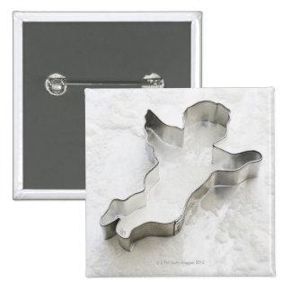 O anjo deu forma ao cortador do biscoito, com bóton quadrado 5.08cm