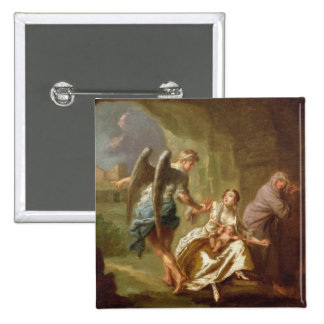 O anjo do compaixão, c.1746 (óleo em canvas) bóton quadrado 5.08cm
