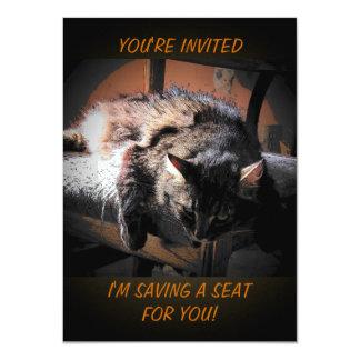 O anjo mal-humorado salvar Seat Convite 11.30 X 15.87cm