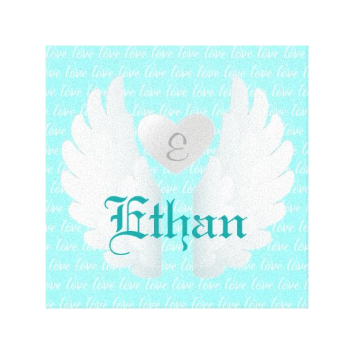 O anjo personalizado voa a arte impressão de canvas envolvidas