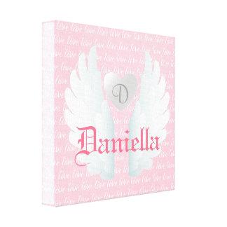 O anjo personalizado voa a arte impressão em tela