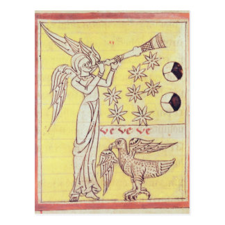 O anjo que funde a trombeta cartão postal