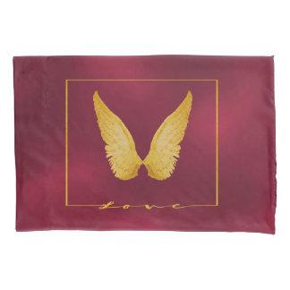 O anjo voa no fundo chique de Borgonha do ouro do