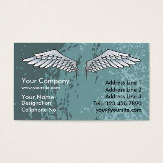 O anjo voa o azul enlameado cartão de visitas