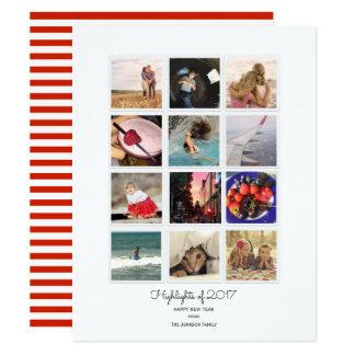 O ano destaca o cartão com fotos das fotos | de