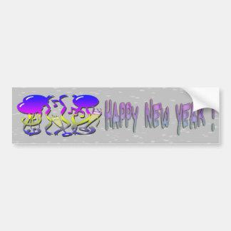 O ano novo - balões flâmulas vidros de Champagne Adesivos