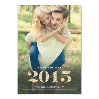 O ano novo carda | 2015 convite 12.7 x 17.78cm
