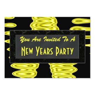 O ano novo do partido convite 12.7 x 17.78cm