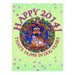 O ano novo dos anos do cão cartão postal