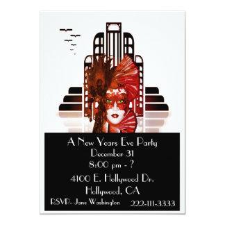 O ano novo elegante do convite de festas