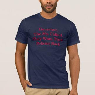 O anos 80 quer suas políticas para trás camiseta