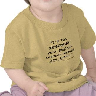 O antagonista seu professor de inglês advertiu-o camiseta