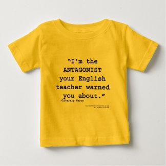 O antagonista seu professor de inglês advertiu-o camiseta para bebê