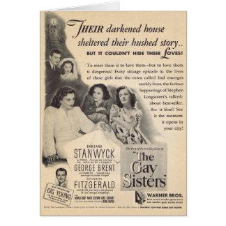 O anúncio 1942 alegre do filme das irmãs