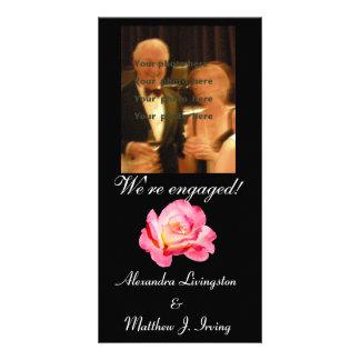 O anúncio do noivado aumentou cartoes com fotos personalizados