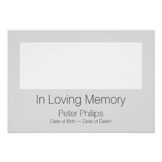 O anúncio fúnebre 2 do modelo adiciona a imagem convite 9.52 x 12.7cm