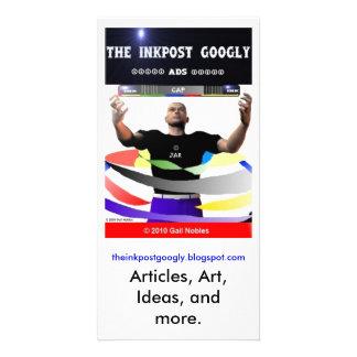 O anúncio Googly de InkPost Cartoes Com Fotos Personalizados