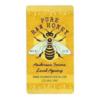 O Apiary do frasco do mel da abelha etiqueta a