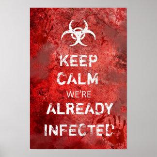 """O apocalipse engraçado do zombi mantem 13"""" calmo X Pôster"""