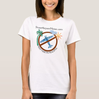 O apoio do ruído do aeroporto de Stuart mantem Camiseta