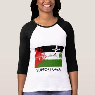 O apoio GAZA personalizou a camisa das mulheres