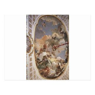 O Apotheosis da monarquia espanhola por Giovanni Cartão Postal