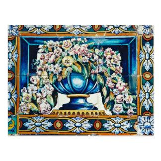 O Aqua floresce no vaso, Plaza de Espana, Sevilha, Cartao Postal