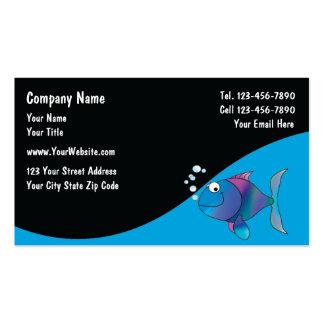 O aquário marinho presta serviços de manutenção a  cartões de visitas