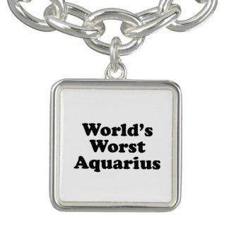 O Aquário o mais mau do mundo Charm Bracelets