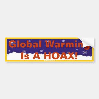 O aquecimento global é um autocolante no vidro tra adesivo para carro