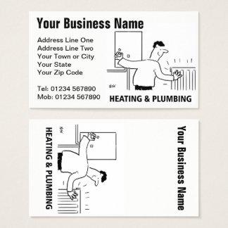 O aquecimento presta serviços de manutenção ao cartão de visitas