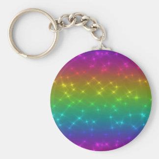 O arco-íris brilhante Sparkles chaveiro