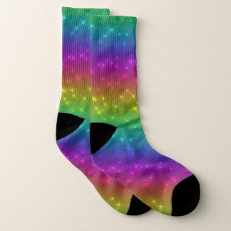 O arco-íris brilhante Sparkles meias