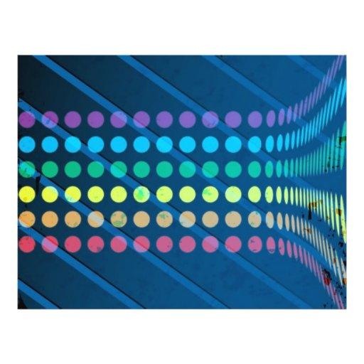 O arco-íris circunda a disposição sobre o metal az panfleto