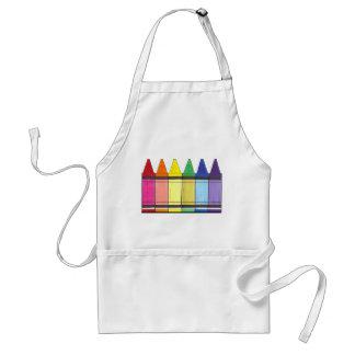 O arco-íris colorido desenha o avental do orgulho